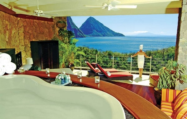 Jade Mountain hotel  in St. Lucia