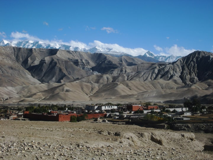 Upper mustang travel destination in Nepal