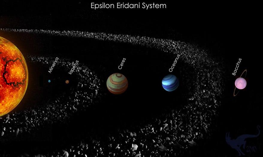 Epsilon Eridani star