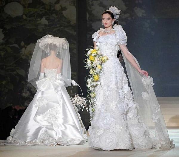 White Gold Diamond Dress most expensive wedding dress