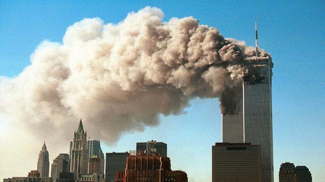 /11 attack on Twin Towers of World Trade Center USA