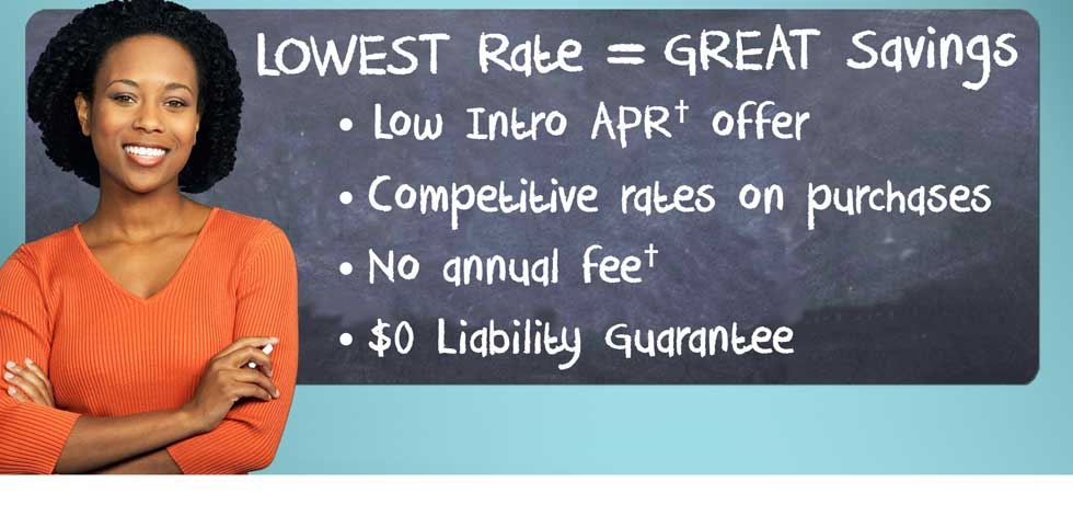 low introductory rate offer credit card
