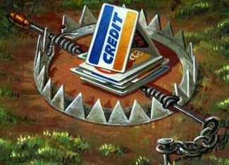 massive credit card debts