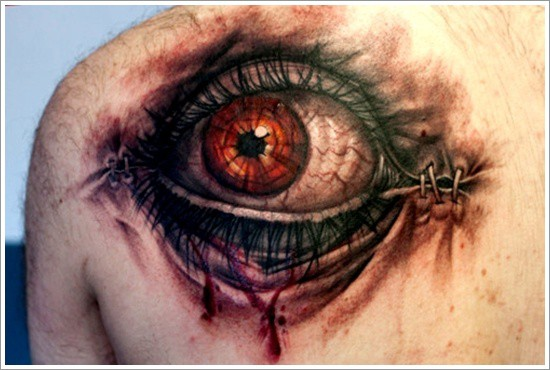 2. Eyes tattoo