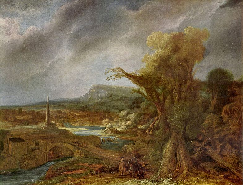 Landscape with an Obelisk by Govert Flinck