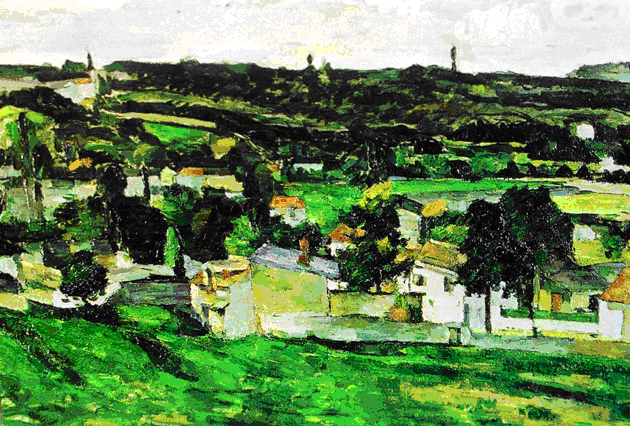 View of Auvers sur Oise Paul_Cezanne