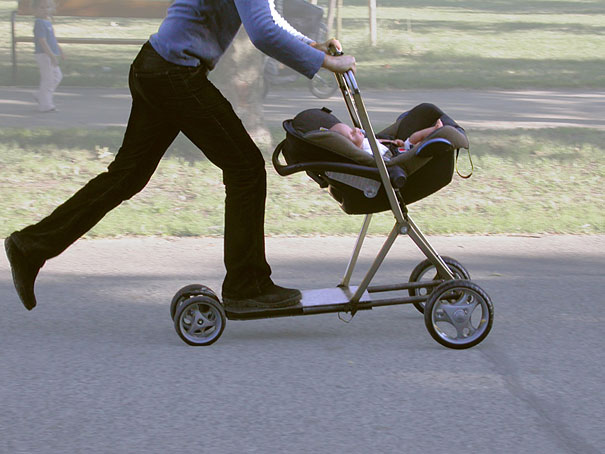 Baby Stroller with Scooter