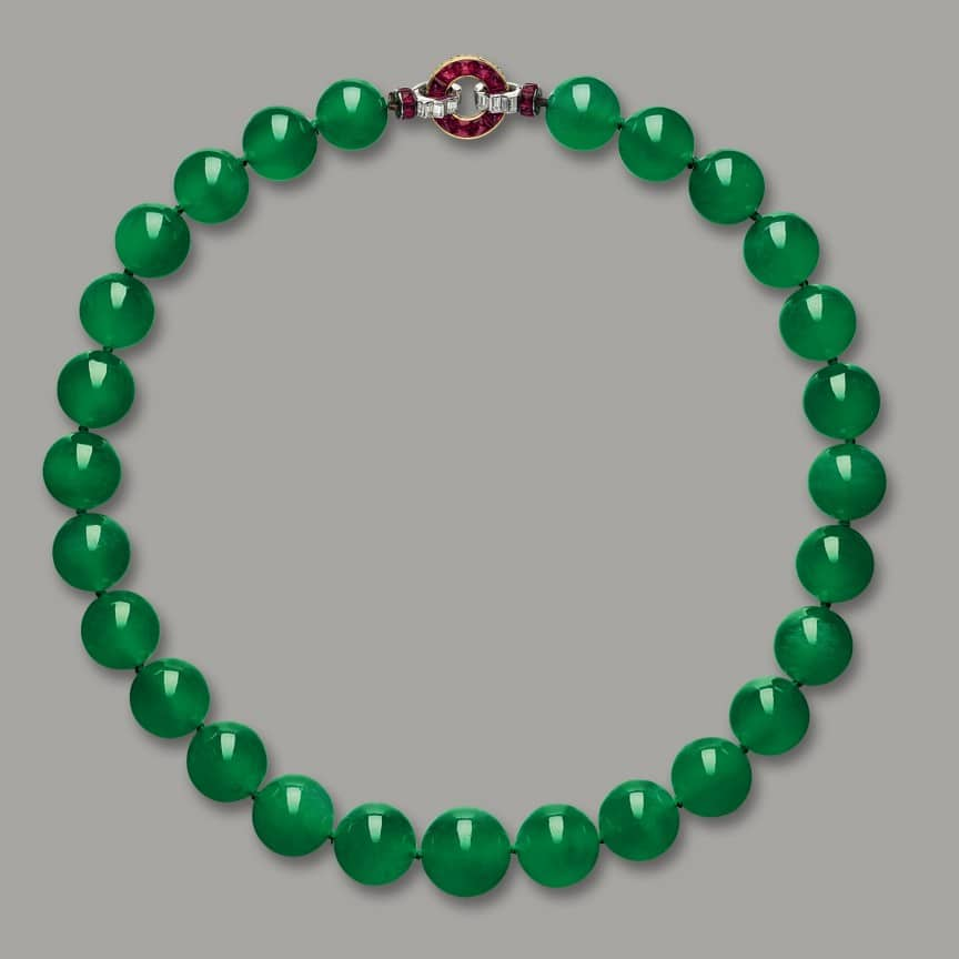 Hutton Mdivani Jadeite Necklace Jewelers Choice