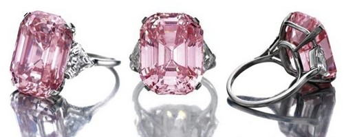 6. Pink Emerald-Cut Graff Diamond