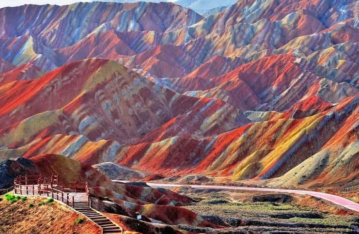 Rainbow Mountains of Zhangye Danxia, China