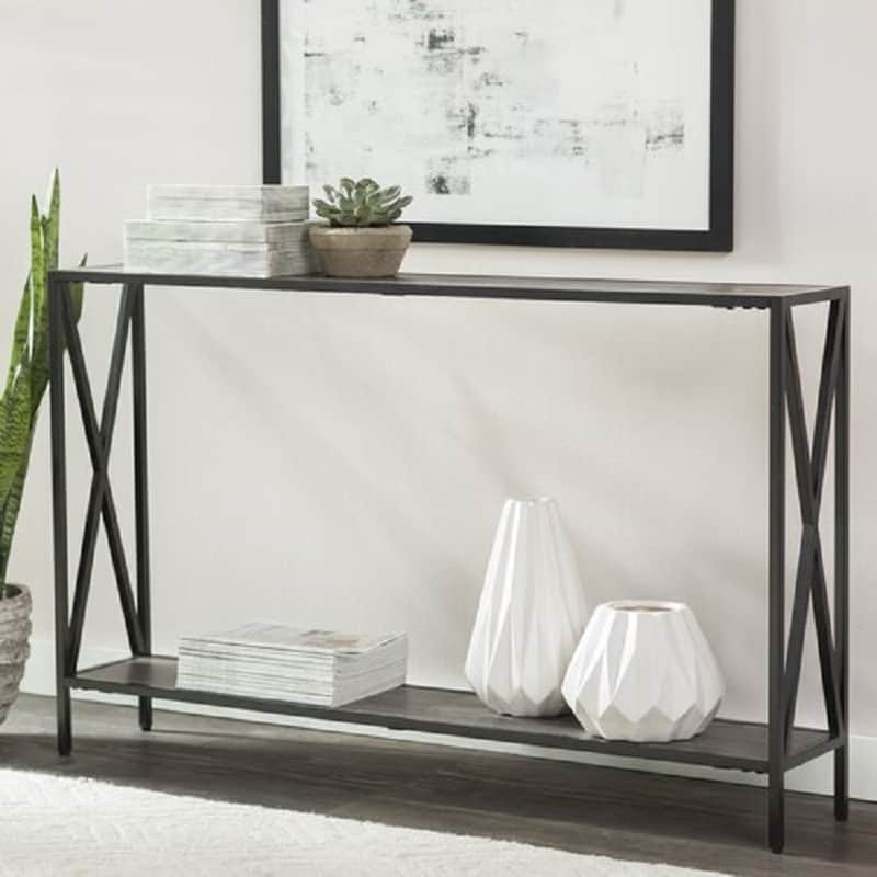 metal foyer tables