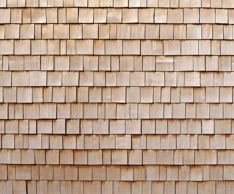 Pine type of roof shingles