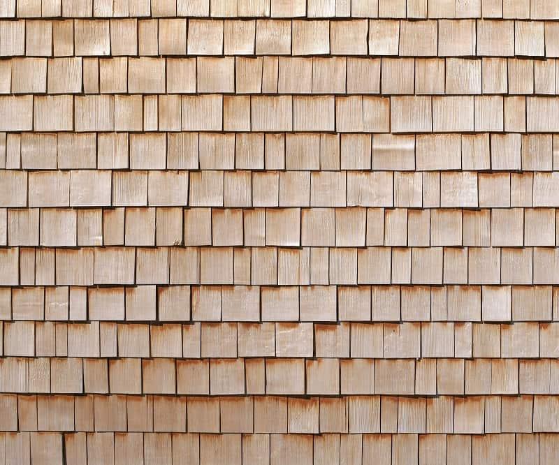 Pine type of roof shingles