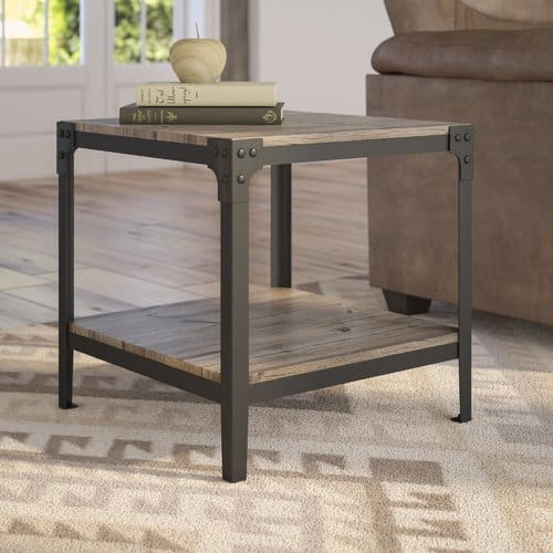 Rustic type end table
