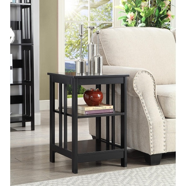 shelves type end table