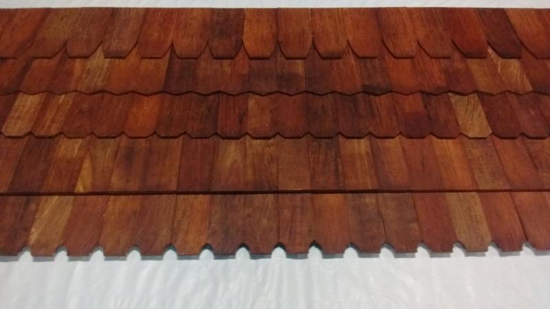 Wallaba type of roof shingles
